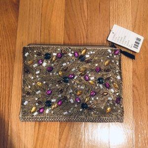 NWT Anthropologie clutch bag with rhinestones